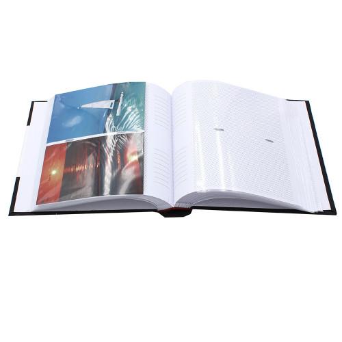 album photo Mulberry blanc 200 pochettes 13x18 ouvert avec photos