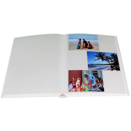 Album photo Fun bleu autocollant ouvert avec images