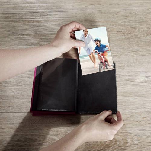 Mini album Fun jaune 24 pochettes 15x20