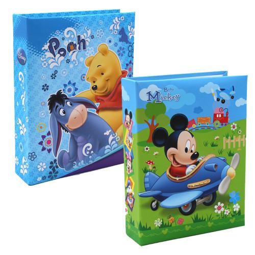 Lot de 2 mini albums photos Mickey Winnie NA 100 pochettes 10X15