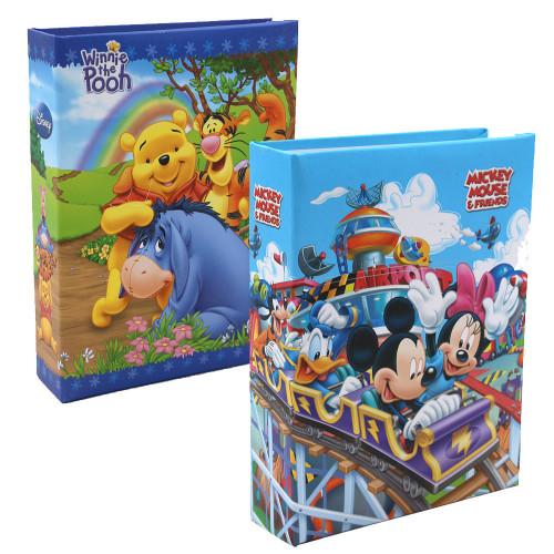 Lot de 2 mini albums photos Mickey Winnie NB 100 pochettes 10X15