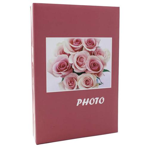 Album photo Bouquet rose 200 pochettes 10X15 - Noir