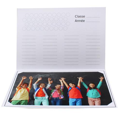 Cartonnage photo scolaire - Groupe 20x30 - Ecole détail interieur