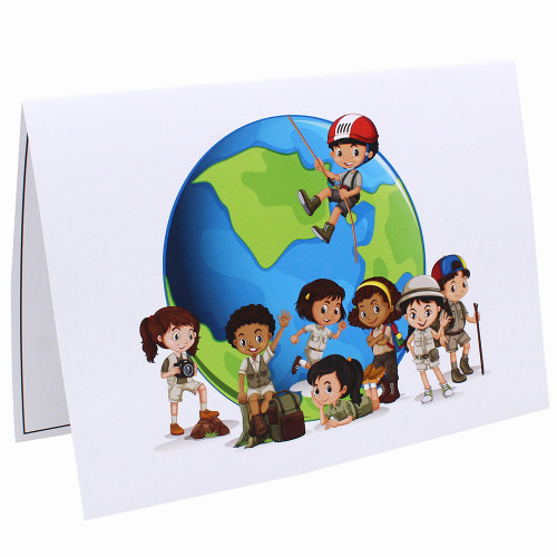 Cartonnage photo scolaire - Groupe 20x30 - Globe Trotter