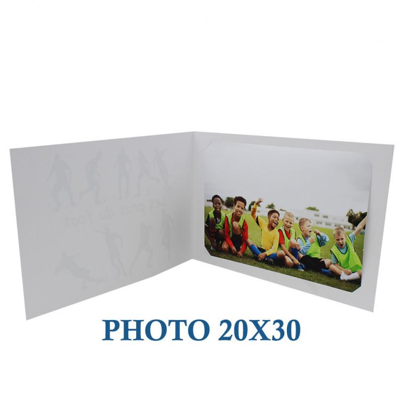 Cartonnage photo scolaire - Groupe 20x30-18x25 - Crayons-avec photo 20x30