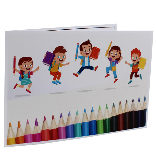 Cartonnage photo scolaire - Groupe 20x30 -18x25 - Crayons