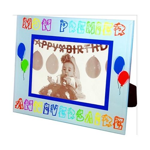 Cadre photo enfant Mon premier anniversaire - Garçon