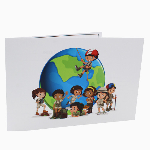Cartonnage photo scolaire - Groupe 20x30 -18x25 - Globe Trotter