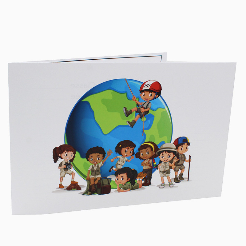 Cartonnage photo scolaire - Groupe 20x30-18x25 - Globe Trotter