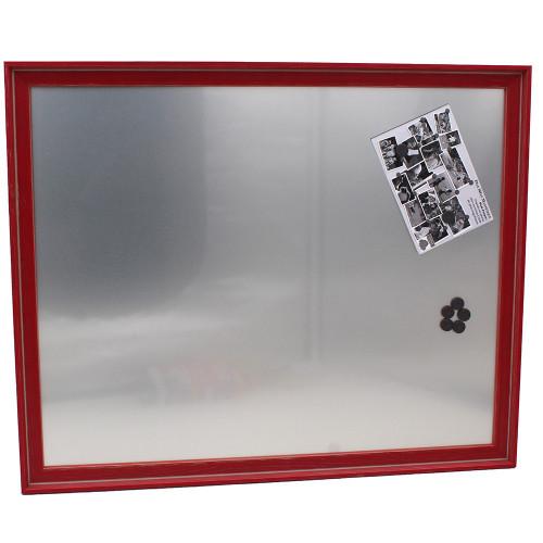 Pêle-mêle magnétique Canape Rouge 40X50 fond alu