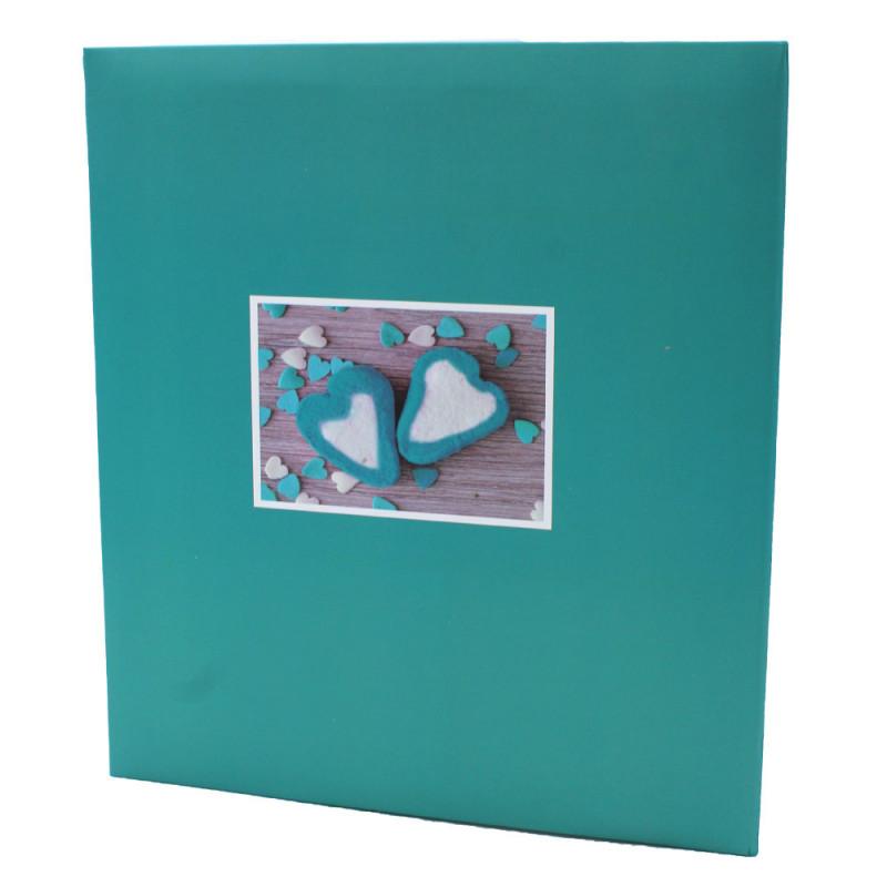 Album pochettes 13x18 Compliments 200 photos turquoise dos