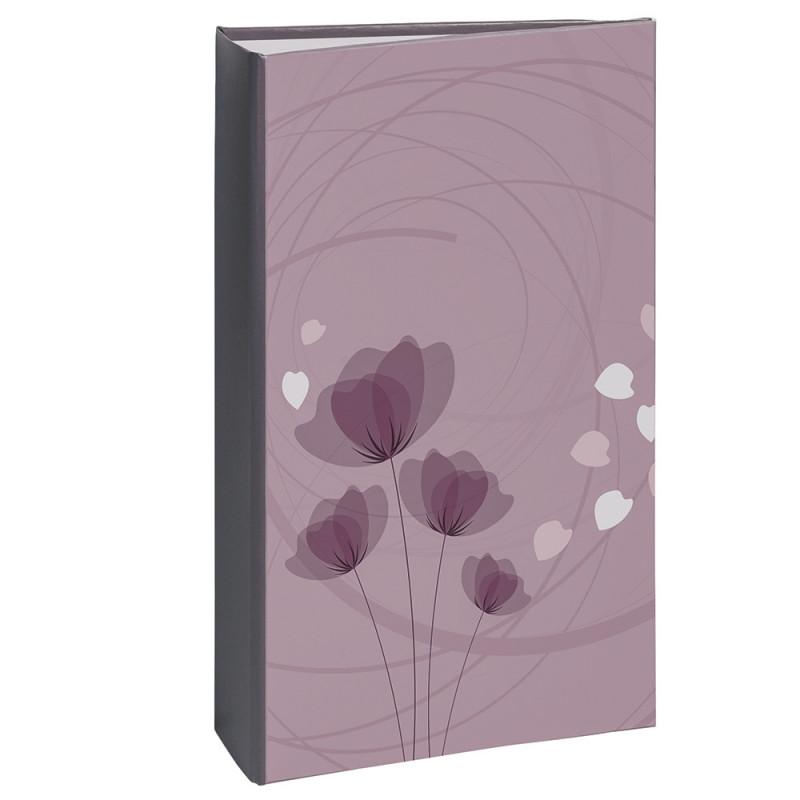 album photo Ellypse 2 violet 300 pochettes 11,5x15 ouvert avec photos