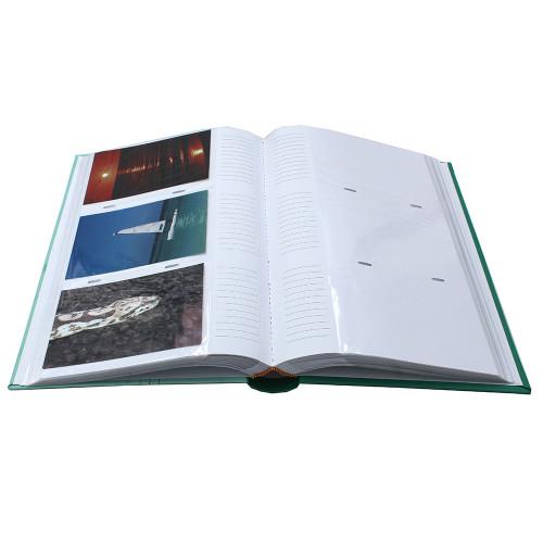 Album photo Ellypse 2 gris 300 pochettes 11,5x15 ouvert avec photos