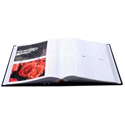 Album photo Ellypse 2 rouge 200 pochettes 11,5x15 cm ouvert avec photos