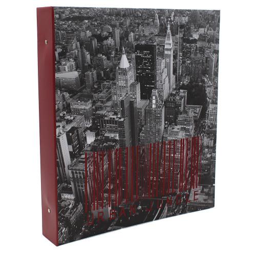 Classeur photo à pochettes noires Urban pour 400 photos 11x15