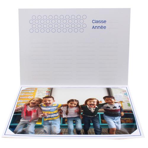 Cartonnage photo scolaire - Groupe 20x30 - Smile 1-intérieur