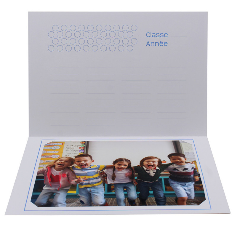 Cartonnage photo scolaire - Groupe 18x24 - Smile 2 - intérieur avec photo