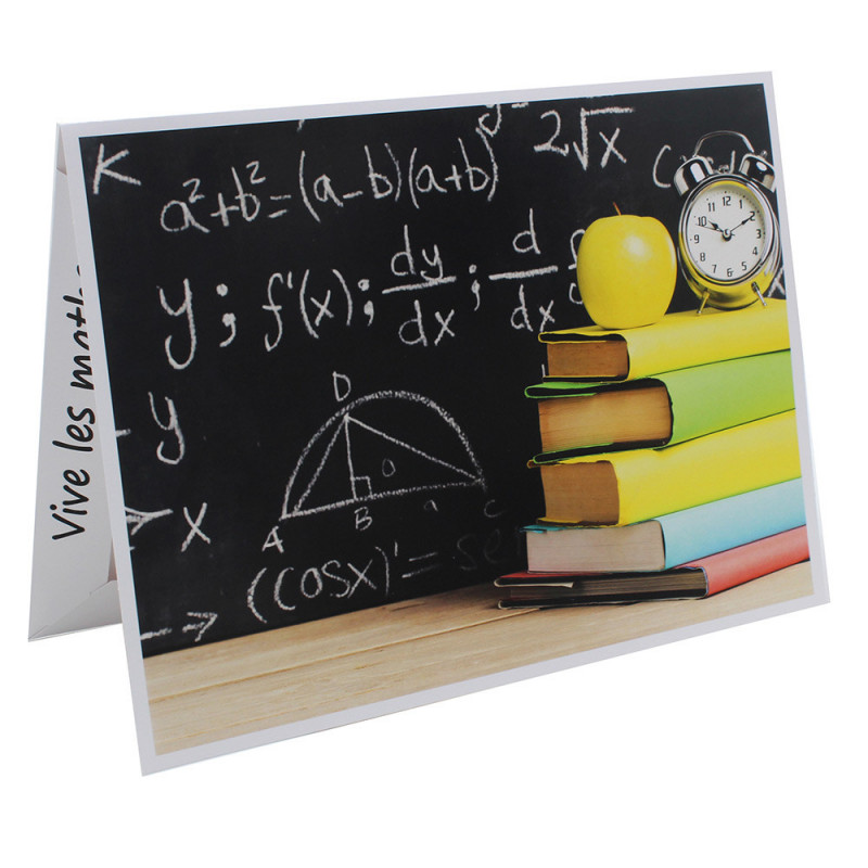 Cartonnage photo Combi A4 Vive les Maths !