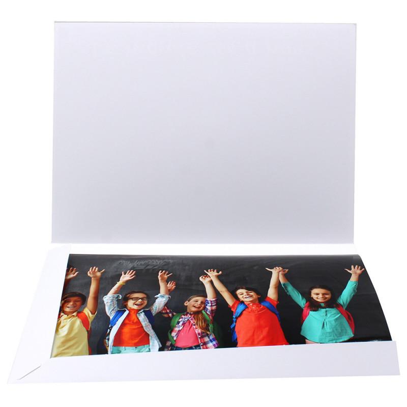 Cartonnage photo Combi A4 Le monde est à nous - ouvert avec photo