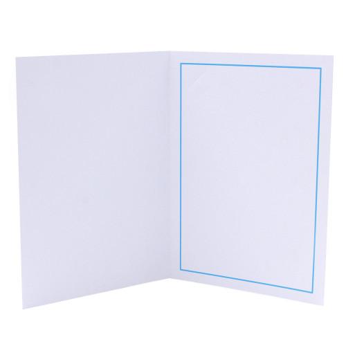 Cartonnage photo 13x18-13x19 blanc - Liserés colorés au choix