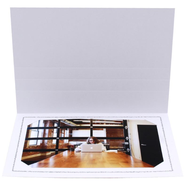 Cartonnage photo Thionville 10x15-9x13 blanc-horizontal-liseré gris