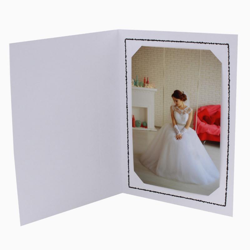 Cartonnage photo Thionville 10x15-9x13 blanc-vertical-liseré noir