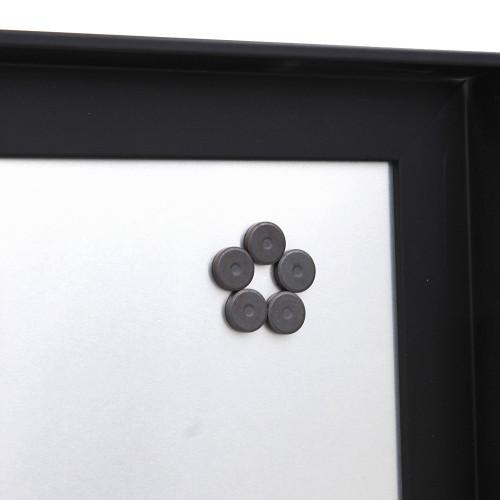 Pêle-mêle magnétique Canape Noir 40X50 fond alu-dos avec aimants