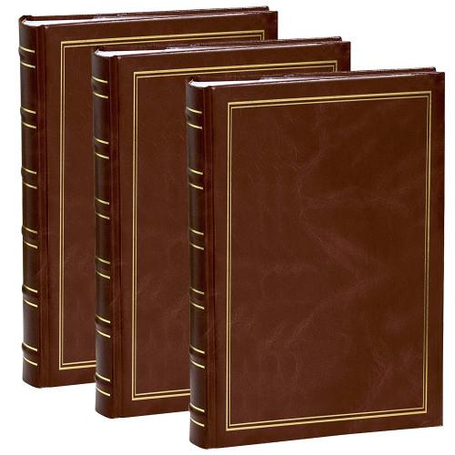 Lot de 3 Albums à pochettes Marbré marron pour 300 photos 11.5x15