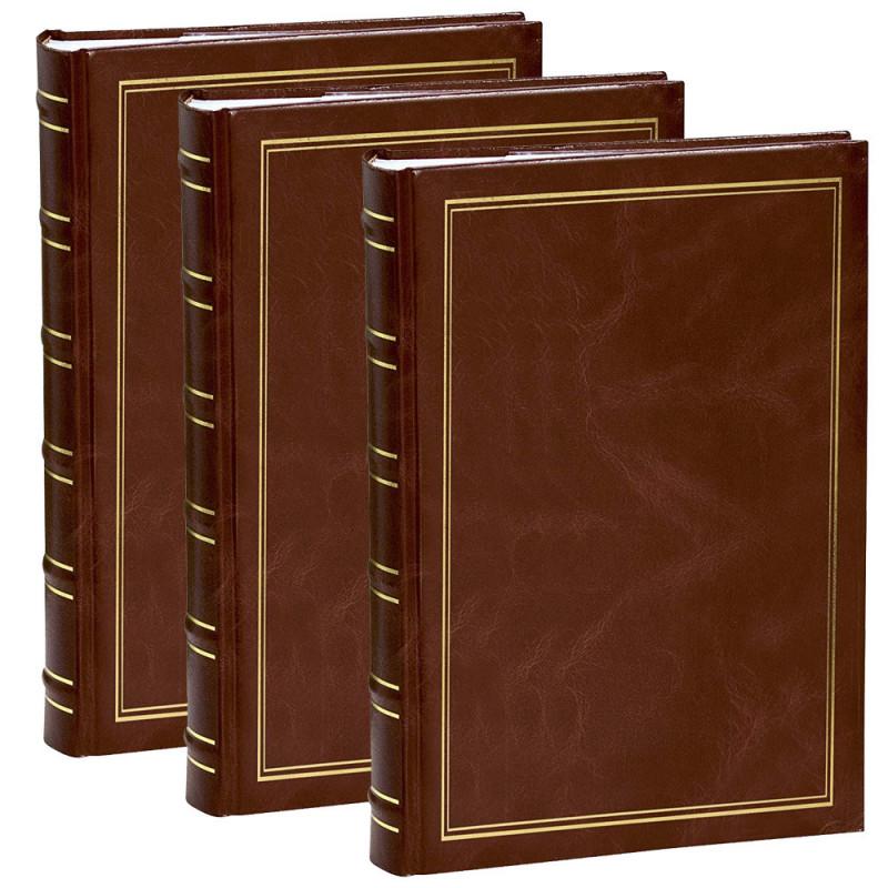 lot 3 albums photo Marbre brun 300 pochettes 11.5x15