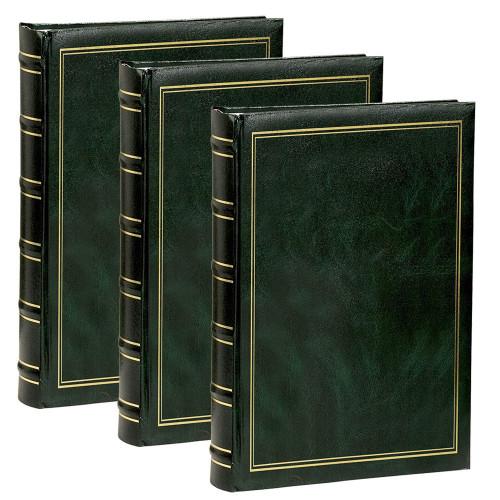Lot de 3 Albums à pochettes Marbré vert pour 300 photos 11.5x15