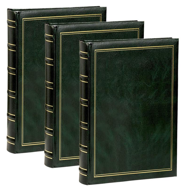 lot 3 albums photo Marbré vert 300 pochettes 11.5x15 cm