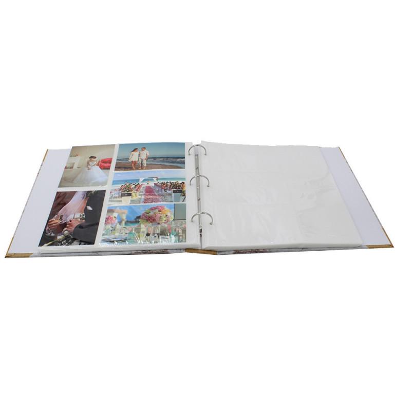 Lot de 2 classeurs photo à pochettes Bout du Monde pour 400 photos 11x15-pochettes avec photos