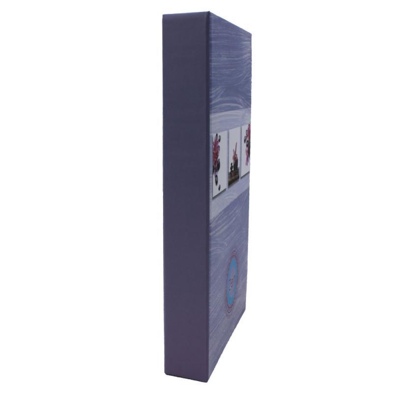Lot de 2 albums photo à pochettes Zen 2 pour 300 photos 11x15-tranche mauve