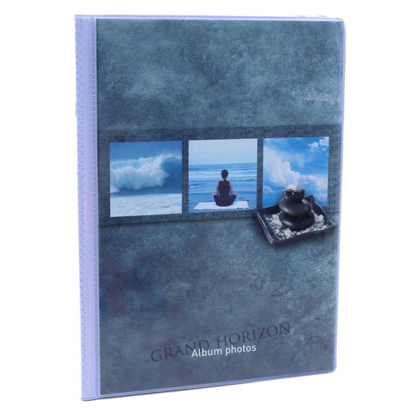 Lot de 12 albums  photos  Grand Horizon 64 pochettes 11x15-face bleu