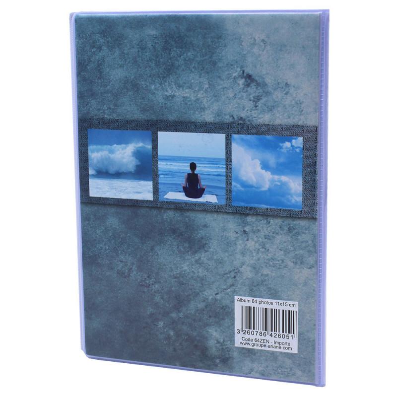 Lot de 12 albums  photos  Grand Horizon 64 pochettes 11x15-dos bleu