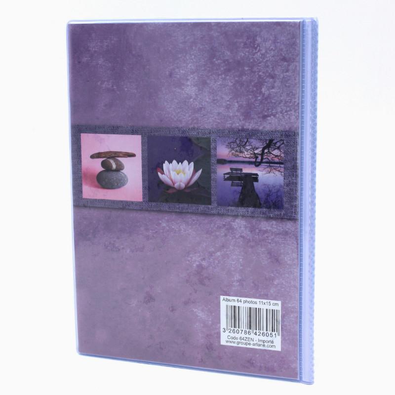 Lot de 12 albums  photos  Grand Horizon 64 pochettes 11x15-dos mauve