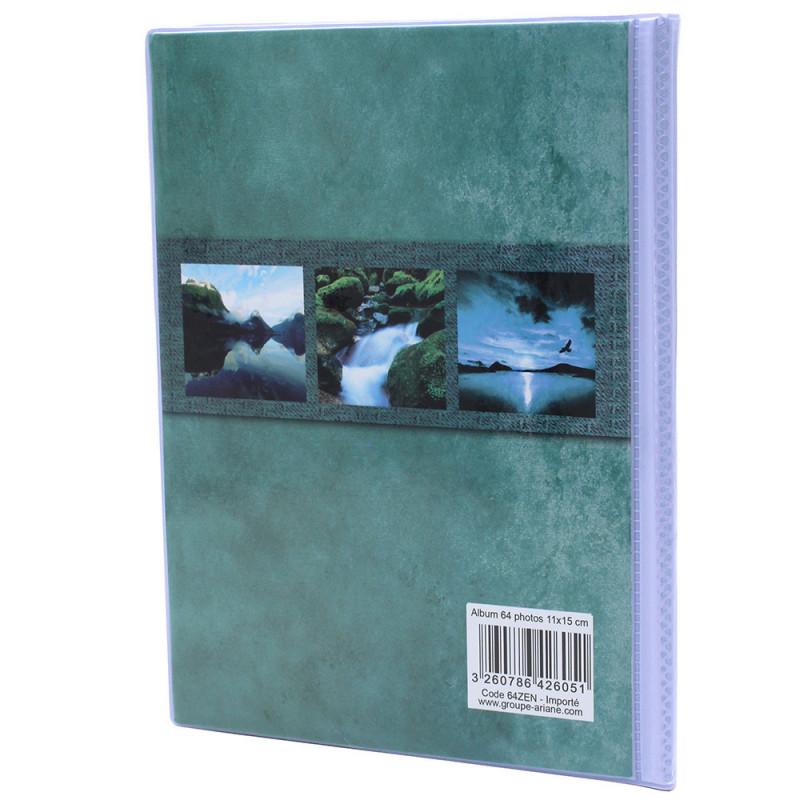 Lot de 12 albums  photos  Grand Horizon 64 pochettes 11x15-dos vert