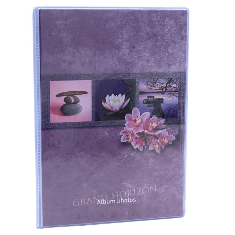 Lot de 12 albums  photos  Grand Horizon 64 pochettes 11x15-face mauve