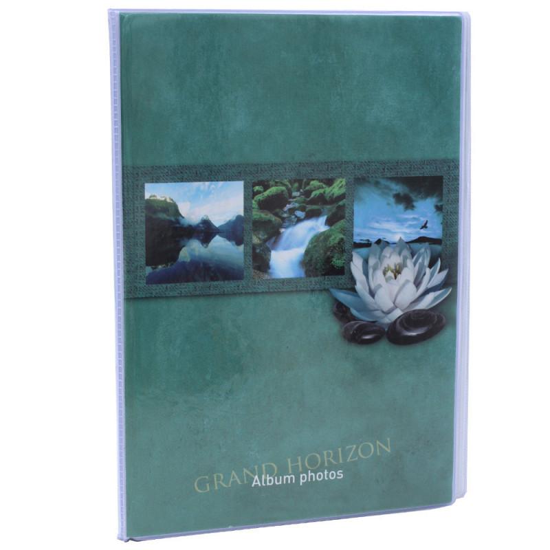 Lot de 12 albums  photos  Grand Horizon 64 pochettes 11x15-face vert