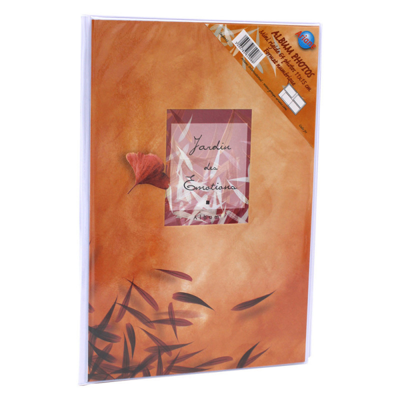 Lot de 12 albums  photos  Emotion 64 pochettes 11x15-orange face