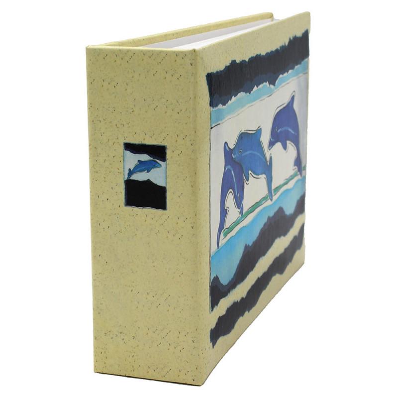 Lot de 12 albums photos Océan 72 pochettes 11x17-tranche dauphin