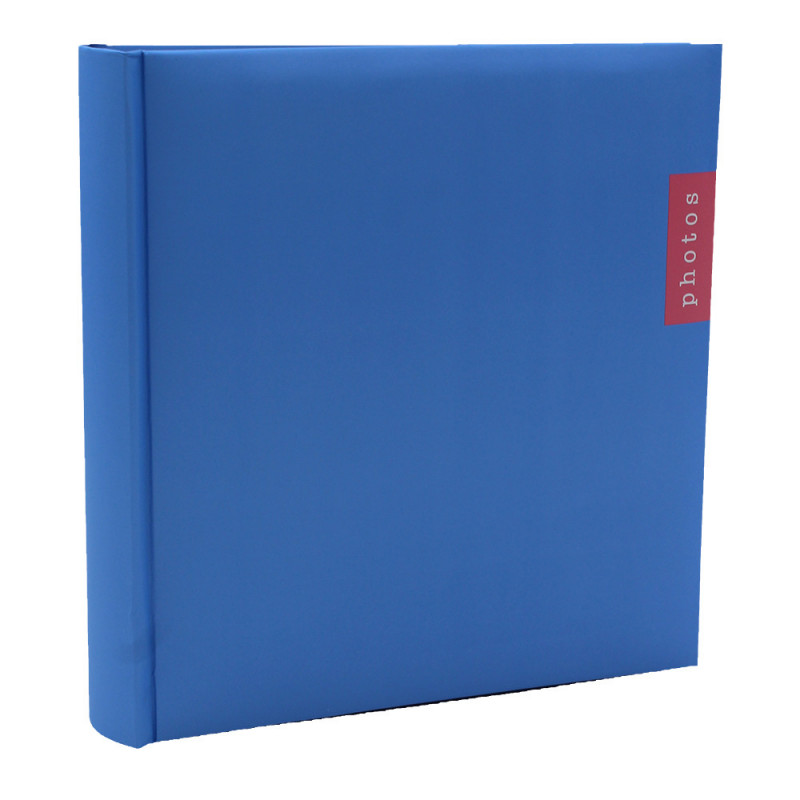 Lot de 3 albums photo Couleur 100 pochettes 13x18-face bleu