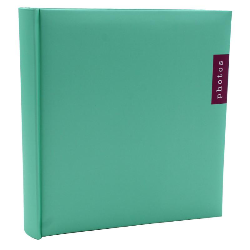 Lot de 3 albums photo Couleur 100 pochettes 13x18-face vert