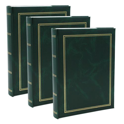 Lot de 3 albums photo Marbre vert 200 pochettes 10x15