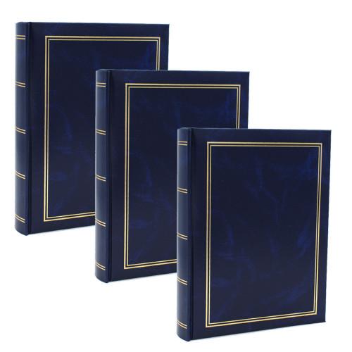 Lot de 3 albums photo Marbre bleu 200 pochettes 10x15