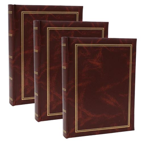 Lot de 3 albums photo Marbre marron 200 pochettes 10x15