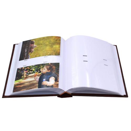 Lot de 3 albums photo Marbre marron 200 pochettes 10x15-pochettes avec photos