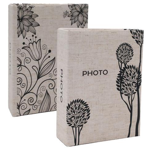 Lot de 2 albums photo Simple 100 pochettes 10X15