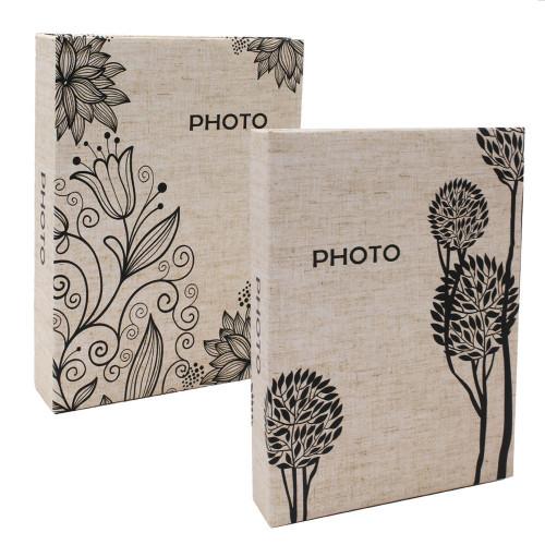 Lot de 2 albums photo Simple 200 pochettes 10X15