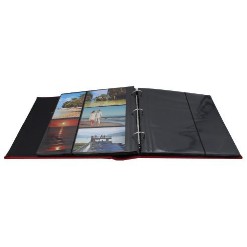 Album photo Vogue marron 600 pochettes 10X15-pochettes noires avec photos